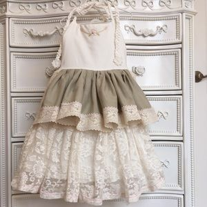 OH MY! Dollcake ivory lace halter dress 8
